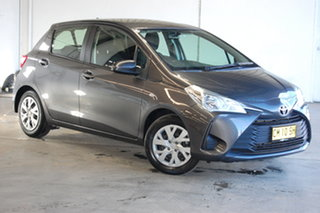 2017 Toyota Yaris NCP130R Ascent Graphite 4 Speed Automatic Hatchback.