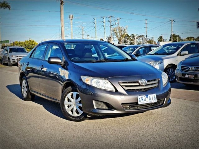 Used Toyota Corolla ZRE152R Ascent, 2009 Toyota Corolla ZRE152R Ascent Grey 4 Speed Automatic Sedan