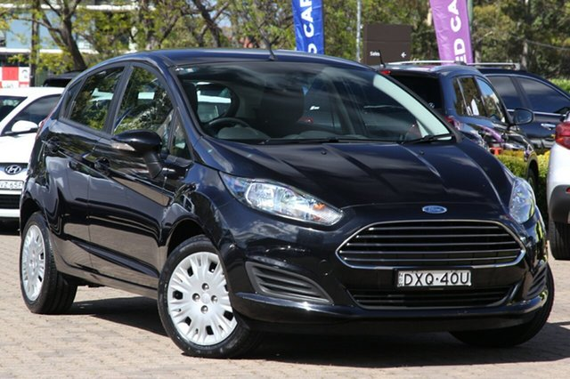 Used Ford Fiesta WZ Ambiente, 2015 Ford Fiesta WZ Ambiente Black 5 Speed Manual Hatchback