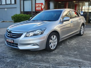 2013 Honda Accord 8th Gen MY12 V6 Luxury Silver 5 Speed Sports Automatic Sedan.