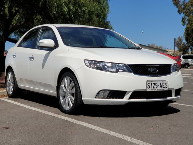 Used Kia Cerato TD MY09 SLi, 2009 Kia Cerato TD MY09 SLi White 4 Speed Sports Automatic Sedan