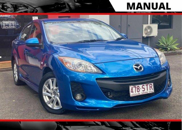 Used Mazda 3 BL10F2 MY13 Maxx Sport, 2012 Mazda 3 BL10F2 MY13 Maxx Sport Metallic Blue 6 Speed Manual Sedan