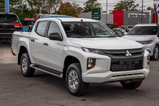 2019 Mitsubishi Triton MR MY19 GLX+ Double Cab White 6 Speed Manual Utility.