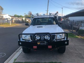 2013 Nissan Patrol MY11 Upgrade DX (4x4) White 5 Speed Manual Leaf Cab Chassis