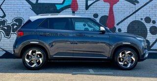 2020 Hyundai Venue QX.2 MY20 Elite Polar White & Black Roof 6 Speed Automatic Wagon.