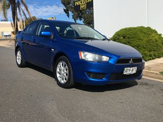 2009 Mitsubishi Lancer CJ MY10 RX Blue 6 Speed Constant Variable Sedan.
