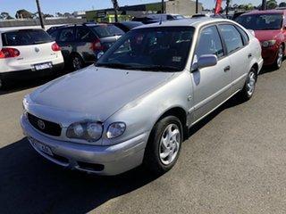 1999 Toyota Corolla AE102R Conquest Seca Silver 4 Speed Automatic Liftback.