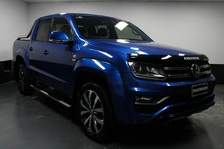 2018 Volkswagen Amarok 2H MY19 TDI580 4MOTION Perm Ultimate Ravenna Blue 8 Speed Automatic Utility.