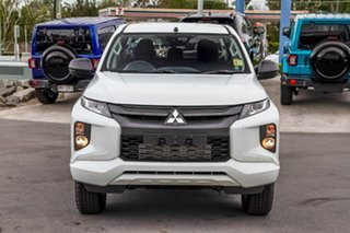 2019 Mitsubishi Triton MR MY19 GLX+ Double Cab White 6 Speed Manual Utility