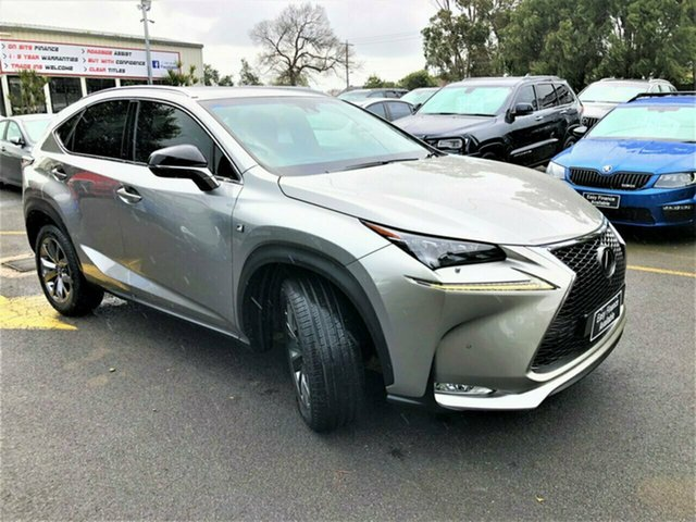Used Lexus NX AGZ15R NX200t AWD Sports Luxury, 2015 Lexus NX AGZ15R NX200t AWD Sports Luxury Grey 6 Speed Sports Automatic Wagon