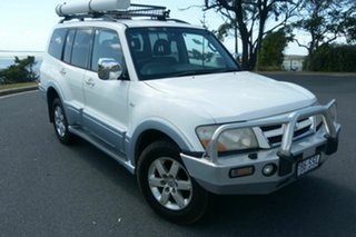 2005 Mitsubishi Pajero NP MY06 Exceed White 5 Speed Sports Automatic Wagon.