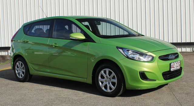 Used Hyundai Accent RB2 Active, 2014 Hyundai Accent RB2 Active Green 4 Speed Sports Automatic Hatchback