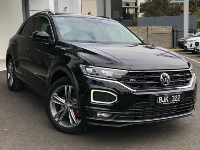 Demo Volkswagen T-ROC A1 MY20 140TSI DSG 4MOTION Sport, 2020 Volkswagen T-ROC A1 MY20 140TSI DSG 4MOTION Sport Black 7 Speed Sports Automatic Dual Clutch