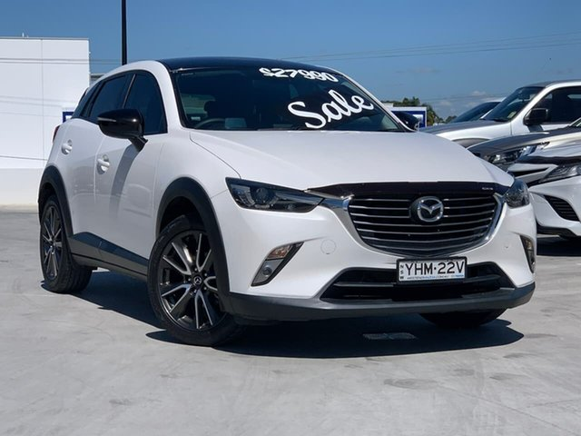 Used Mazda CX-3 DK2W7A sTouring SKYACTIV-Drive Liverpool, 2017 Mazda CX-3 DK2W7A sTouring SKYACTIV-Drive White 6 Speed Sports Automatic Wagon