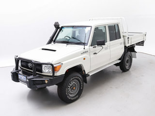 2016 Toyota Landcruiser VDJ79R MY12 Update Workmate (4x4) White 5 Speed Manual Double Cab Chassis