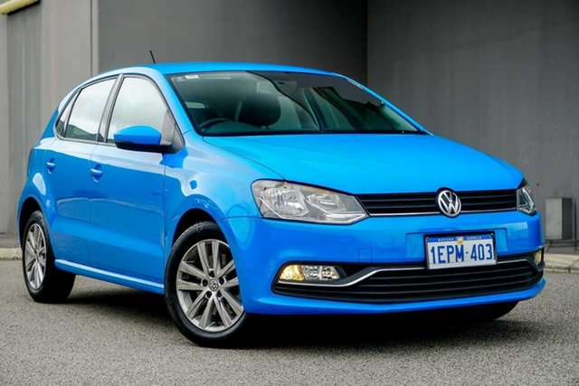 Used Volkswagen Polo 6R MY15 81TSI DSG Comfortline, 2014 Volkswagen Polo 6R MY15 81TSI DSG Comfortline Blue 7 Speed Sports Automatic Dual Clutch