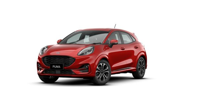 New Ford Puma JK 2021.25MY ST-Line Kingswood, 2021 Ford Puma JK 2021.25MY ST-Line Fantastic Red 7 Speed Sports Automatic Dual Clutch Wagon