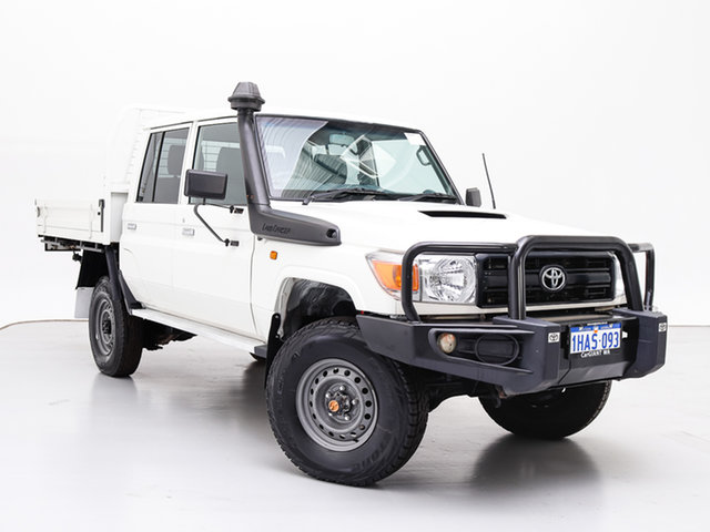 Used Toyota Landcruiser VDJ79R MY12 Update Workmate (4x4), 2016 Toyota Landcruiser VDJ79R MY12 Update Workmate (4x4) White 5 Speed Manual Double Cab Chassis