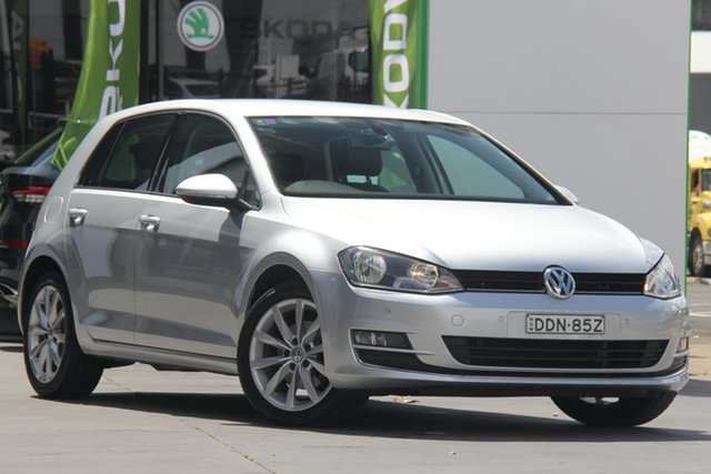 Used Volkswagen Golf VII MY16 110TSI DSG Highline, 2016 Volkswagen Golf VII MY16 110TSI DSG Highline Silver 7 Speed Sports Automatic Dual Clutch