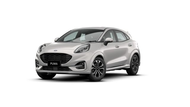New Ford Puma JK 2021.25MY ST-Line Townsville, 2021 Ford Puma JK 2021.25MY ST-Line Metropolis White 7 Speed Sports Automatic Dual Clutch Wagon