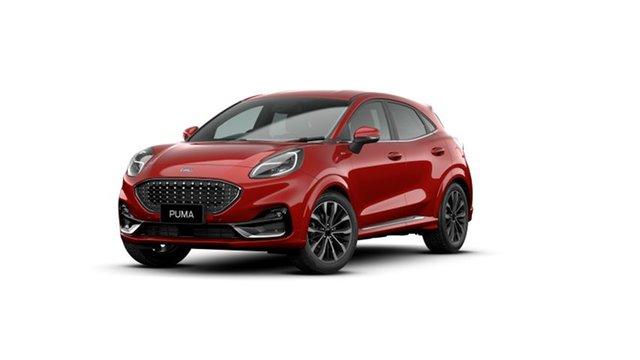 New Ford Puma JK 2020.75MY ST-Line V Victoria Park, 2020 Ford Puma JK 2020.75MY ST-Line V Lucid Red 7 Speed Sports Automatic Dual Clutch Wagon