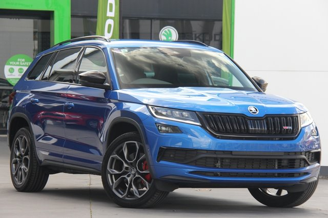 Used Skoda Kodiaq NS MY20.5 RS DSG, 2020 Skoda Kodiaq NS MY20.5 RS DSG Blue 7 Speed Sports Automatic Dual Clutch Wagon