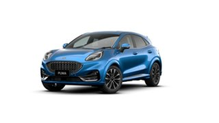 2020 Ford Puma JK 2021.25MY ST-Line V Desert Island Blue 7 Speed Sports Automatic Dual Clutch Wagon.