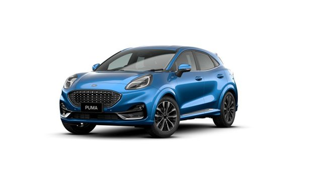 New Ford Puma JK 2020.75MY ST-Line V Gympie, 2020 Ford Puma JK 2020.75MY ST-Line V Desert Island Blue 7 Speed Sports Automatic Dual Clutch Wagon