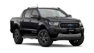 2020 Ford Ranger PX MKIII 2020.7 Wildtrak Shadow Black 10 Speed Automatic Double Cab Pick Up