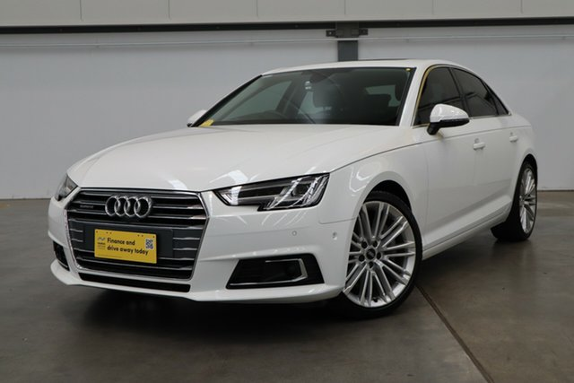 Used Audi A4 B9 8W MY17 Sport S Tronic Castle Hill, 2017 Audi A4 B9 8W MY17 Sport S Tronic White 7 Speed Sports Automatic Dual Clutch Sedan