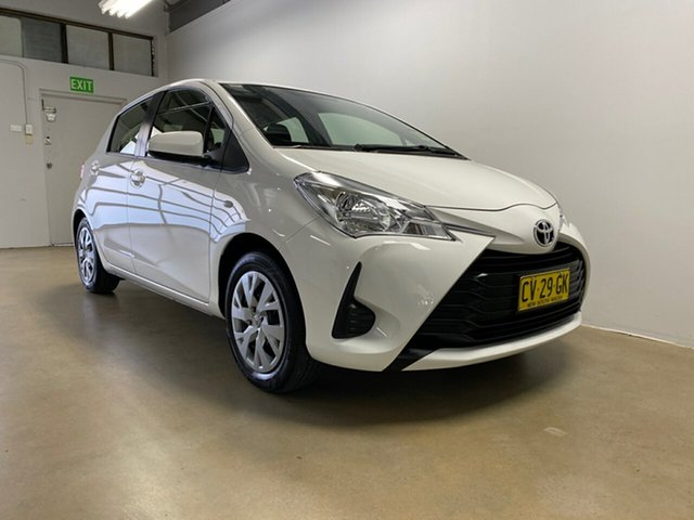 Used Toyota Yaris NCP130R MY18 Ascent, 2019 Toyota Yaris NCP130R MY18 Ascent White 4 Speed Automatic Hatchback
