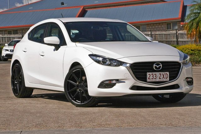 Used Mazda 3 BN5438 SP25 SKYACTIV-Drive, 2018 Mazda 3 BN5438 SP25 SKYACTIV-Drive Snowflake White Pearl 6 Speed Sports Automatic Hatchback