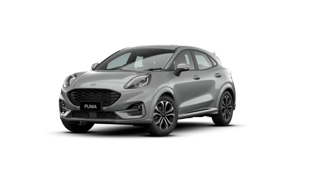 New Ford Puma JK 2021.25MY ST-Line Hobart, 2020 Ford Puma JK 2021.25MY ST-Line Solar Silver 7 Speed Sports Automatic Dual Clutch Wagon