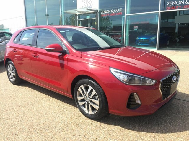 Used Hyundai i30 PD2 MY20 Active Fyshwick, 2019 Hyundai i30 PD2 MY20 Active Red 6 Speed Sports Automatic Hatchback