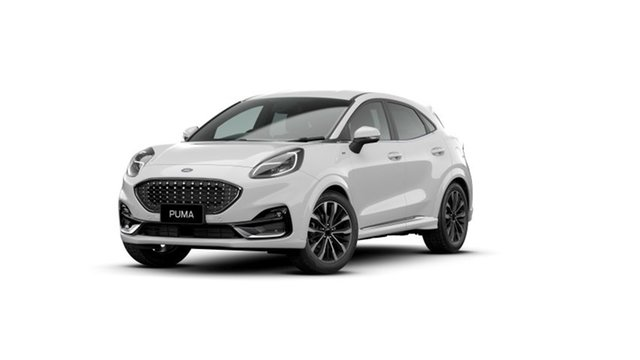 New Ford Puma JK 2021.25MY ST-Line V Hyde Park, 2021 Ford Puma JK 2021.25MY ST-Line V Frozen White 7 Speed Sports Automatic Dual Clutch Wagon