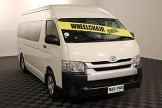2014 Toyota HiAce TRH223R MY14 Commuter High Roof Super LWB French Vanilla 4 speed Automatic Bus.