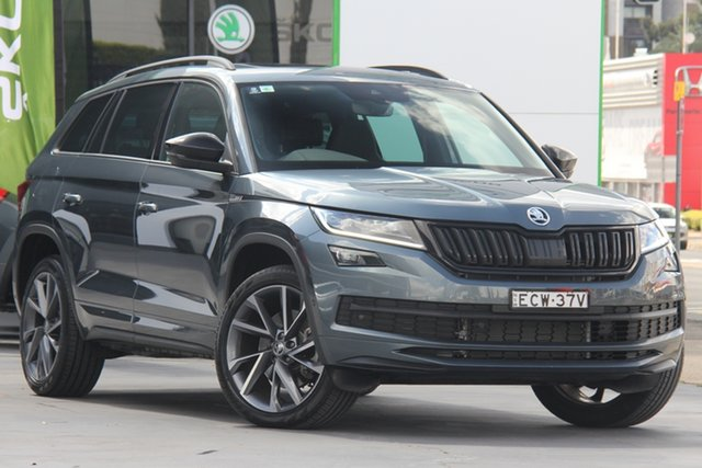 Used Skoda Kodiaq NS MY19 132TSI DSG Sportline Parramatta, 2019 Skoda Kodiaq NS MY19 132TSI DSG Sportline Grey 7 Speed Sports Automatic Dual Clutch Wagon