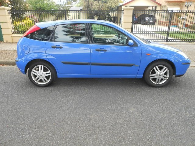 Used Ford Focus LR MY2003 Zetec Broadview, 2002 Ford Focus LR MY2003 Zetec Blue 4 Speed Automatic Hatchback
