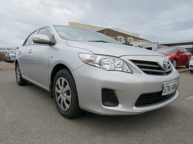 Used Toyota Corolla ZRE152R MY11 Ascent, 2011 Toyota Corolla ZRE152R MY11 Ascent Silver 6 Speed Manual Sedan