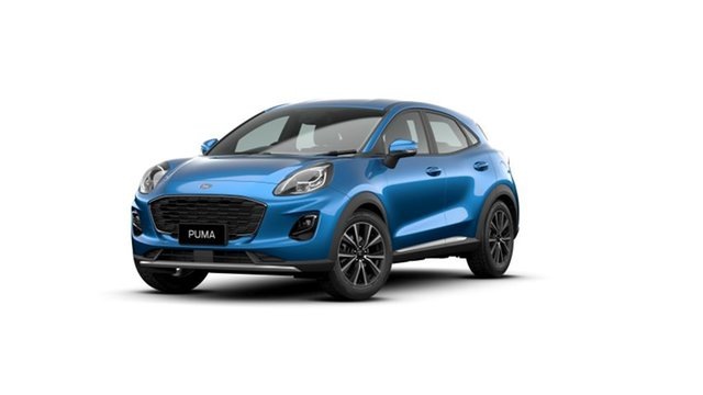 New Ford Puma JK 2020.75MY Puma Midland, 2020 Ford Puma JK 2020.75MY Puma Desert Island Blue 7 Speed Sports Automatic Dual Clutch Wagon