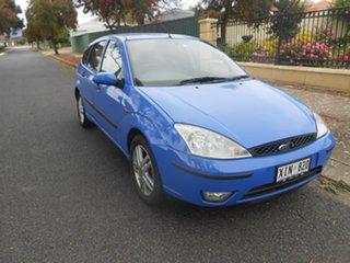 2002 Ford Focus LR MY2003 Zetec Blue 4 Speed Automatic Hatchback.