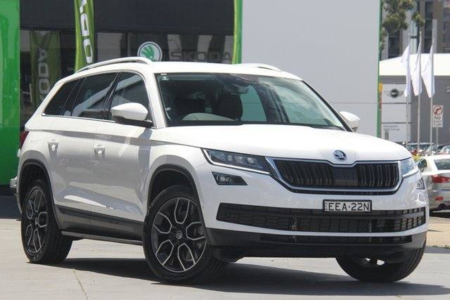 Used Skoda Kodiaq NS MY20 132TSI DSG Parramatta, 2019 Skoda Kodiaq NS MY20 132TSI DSG White 7 Speed Sports Automatic Dual Clutch Wagon
