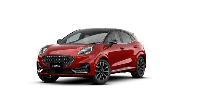 New Ford Puma JK 2021.25MY ST-Line V Springwood, 2021 Ford Puma JK 2021.25MY ST-Line V Red 7 Speed Sports Automatic Dual Clutch Wagon