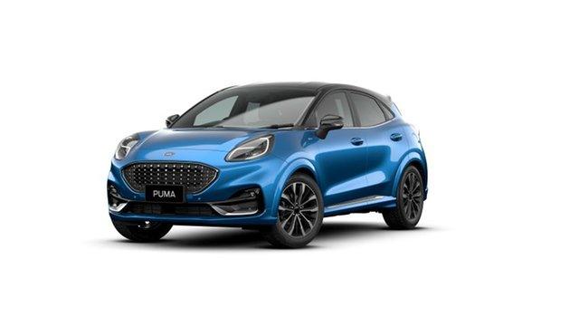 New Ford Puma JK 2021.25MY ST-Line V Springwood, 2021 Ford Puma JK 2021.25MY ST-Line V Blue 7 Speed Sports Automatic Dual Clutch Wagon