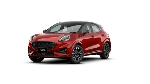 New Ford Puma JK 2021.25MY ST-Line Springwood, 2021 Ford Puma JK 2021.25MY ST-Line Red 7 Speed Sports Automatic Dual Clutch Wagon