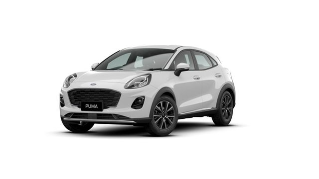 New Ford Puma JK 2020.75MY Puma Midland, 2020 Ford Puma JK 2020.75MY Puma Frozen White 7 Speed Sports Automatic Dual Clutch Wagon