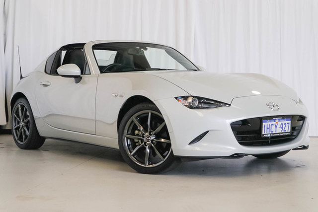 Used Mazda MX-5 ND GT SKYACTIV-Drive, 2017 Mazda MX-5 ND GT SKYACTIV-Drive Grey 6 Speed Sports Automatic Roadster