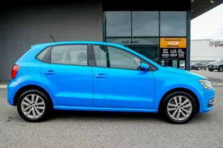 2014 Volkswagen Polo 6R MY15 81TSI DSG Comfortline Blue 7 Speed Sports Automatic Dual Clutch.