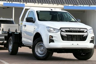 2020 Isuzu D-MAX RG MY21 SX 4x2 High Ride Mineral White 6 Speed Sports Automatic Cab Chassis.
