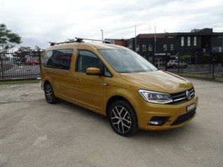 2018 Volkswagen Caddy 2K MY19 TSI220 LWB DSG Beach Sandstorm Yellow 7 Speed.